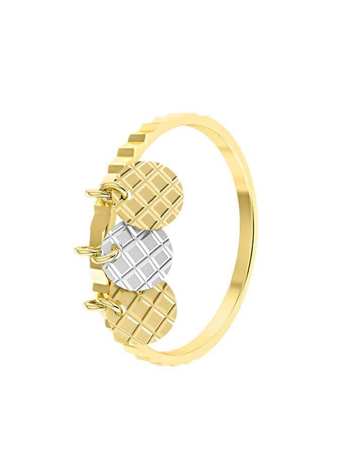 خاتم الدوائر الصغيرة، من الذهب الأصفر عيار 18 قيراط