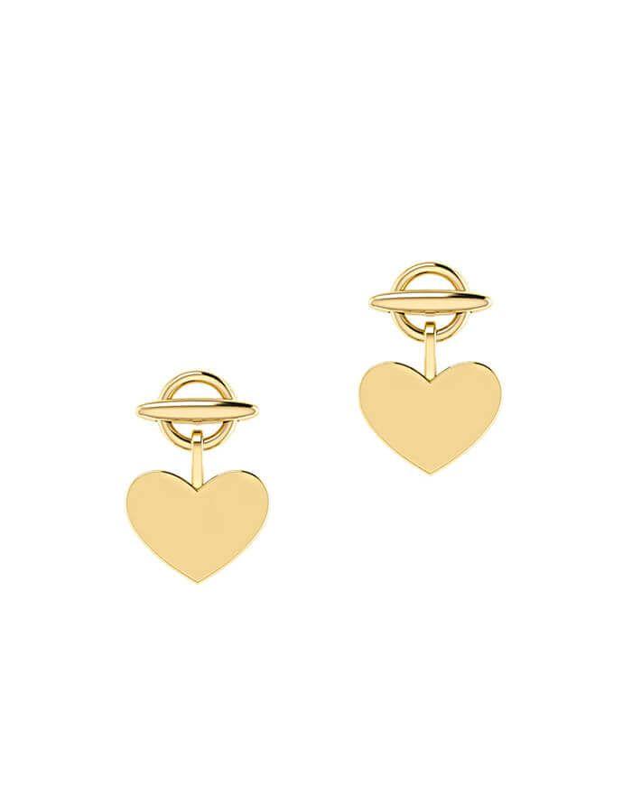 حلق القلب الصغير من الذهب الأصفر عيار 18 قيراط