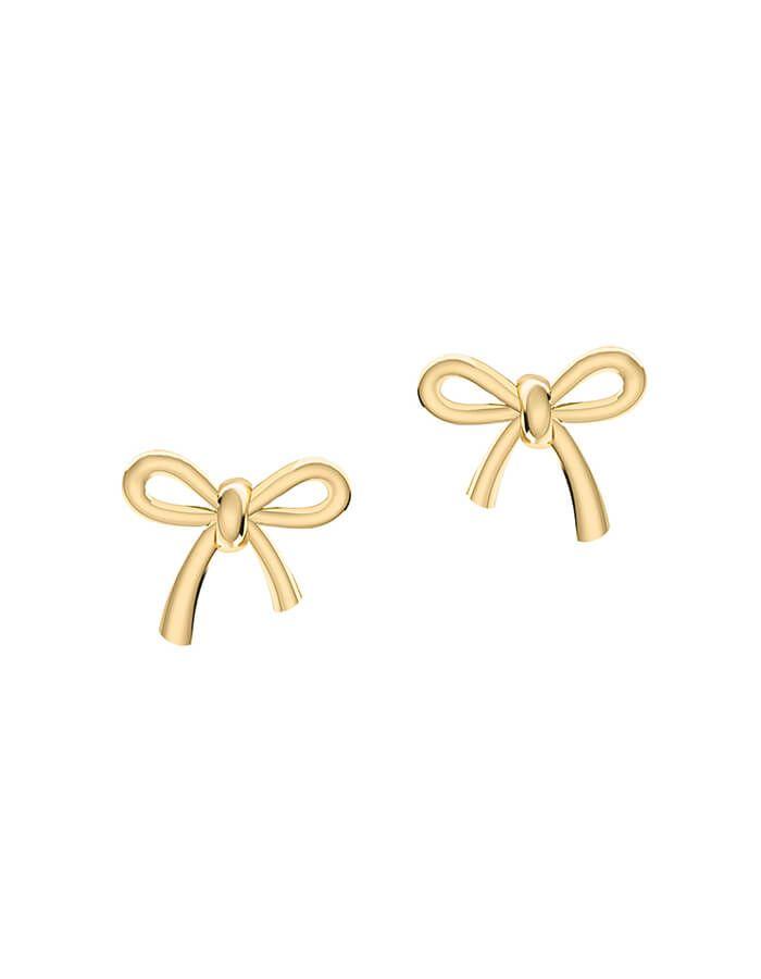حلق الهدية ذهبية، من الذهب الأصفر عيار 18 قيراط