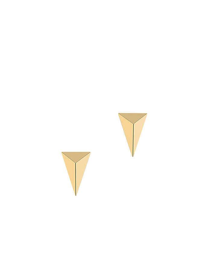 الحلق الهندسي بالأبعاد الثلاثة، من الذهب الأصفر عيار 18 قيراط