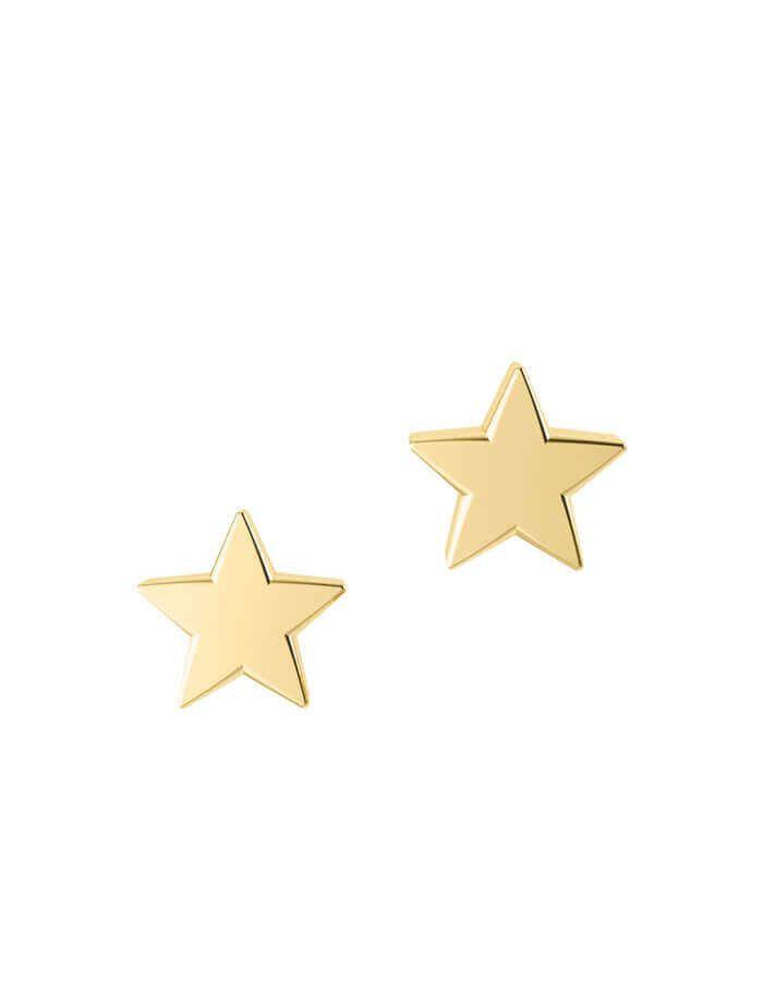 حلق النجمة الصغيرة، من الذهب الأصفر عيار 18 قيراط