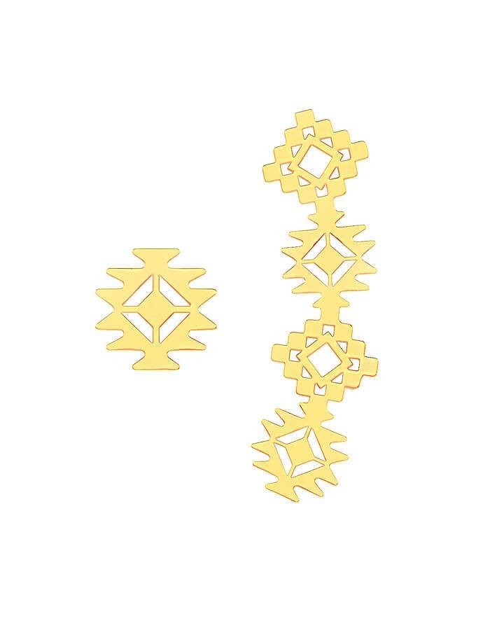 حلق الروح الذهبية من الذهب الأصفر عيار 18 قيراط