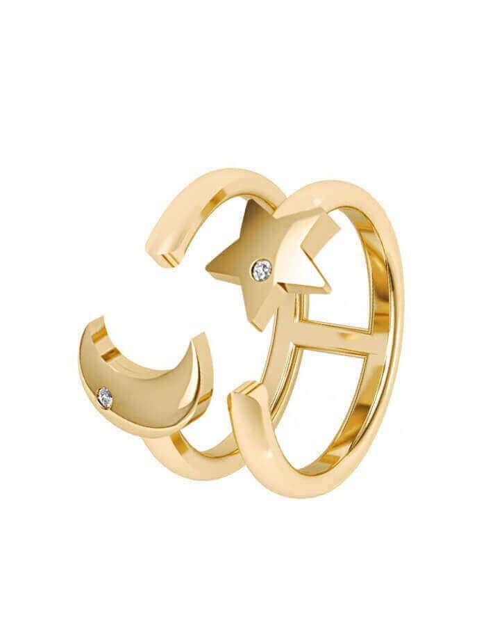 خاتم أنت حلمي، من الذهب الأصفر عيار 18 قيراط والألماس