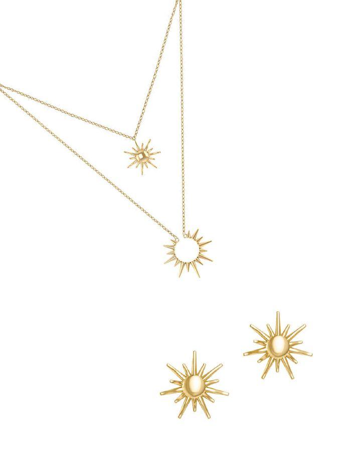 """""""فتاة سطوع الشمس من الذهب الأصفر عيار 18 قيراط ارتدي الطقم معا للمظهر الرائع"""""""